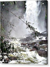 Rushing Waters Acrylic Print by Louise Peardon