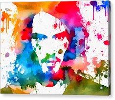 Russell Brand Paint Splatter Acrylic Print