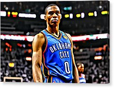 Russell Westbrook Portrait Acrylic Print