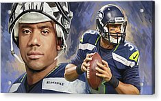 Russell Wilson Artwork Acrylic Print by Sheraz A