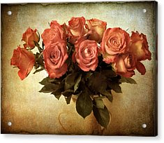 Russet Rose Acrylic Print by Jessica Jenney