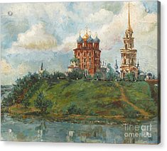 Russian Cathedral Acrylic Print by Margaryta Yermolayeva