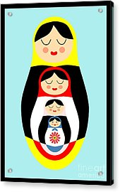 Russian Doll Matryoshka Acrylic Print by Patruschka Hetterschij