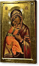 Russian Icon  Our Lady Of Vladimir Acrylic Print