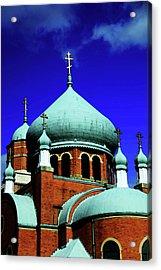 Russian Orthodox Church Acrylic Print by Karol Livote