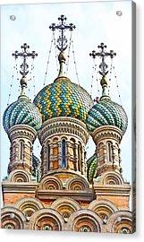 Russian Orthodox Church Of Nativity Acrylic Print by Fabrizio Palumbo