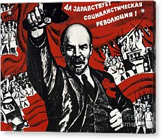 Russian Revolution October 1917 Vladimir Ilyich Lenin Ulyanov  1870 1924 Russian Revolutionary Acrylic Print