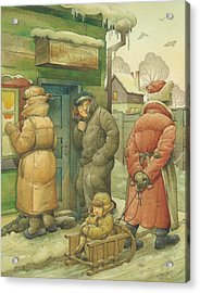 Russian Scene 07 Acrylic Print by Kestutis Kasparavicius