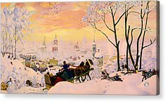 Russian Winter Acrylic Print by Mountain Dreams
