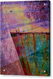 Rust And Paint Acrylic Print by Shirley Sirois