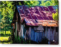 Rust And Rays Acrylic Print by Brian Stevens
