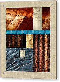 Rust And Rocks Rectangles Acrylic Print by Elaine Plesser