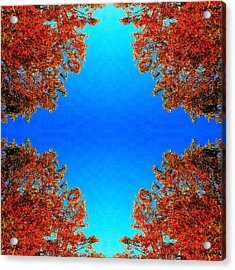 Acrylic Print featuring the photograph Rust And Sky 1 - Abstract Art Photo by Marianne Dow