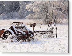 Rust And Snow Acrylic Print by Louise Heusinkveld