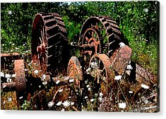 Rust And Wheels Acrylic Print