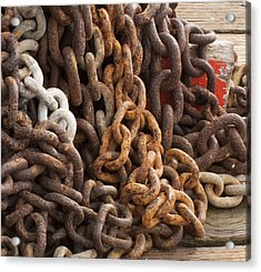Rust Chains Acrylic Print