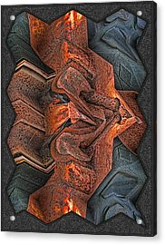 Rust Flow Acrylic Print by Wendy J St Christopher
