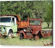 Rust In Peace No. 1 Acrylic Print by Susan Schroeder