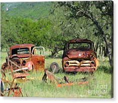 Rust In Peace No. 3 Acrylic Print