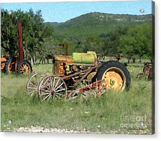 Rust In Peace No. 4 Acrylic Print by Susan Schroeder