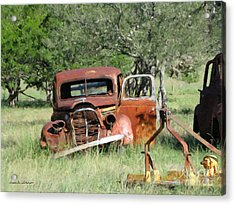 Rust In Peace No. 5 Acrylic Print by Susan Schroeder