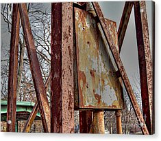 Rust Acrylic Print by MJ Olsen