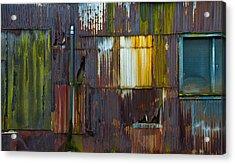 Rust Rainbow Acrylic Print by Sarah Crites