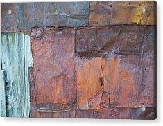 Rust Squared Acrylic Print