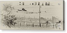 Rust Wind And Time Are Not Kind Acrylic Print by Wilma  Birdwell