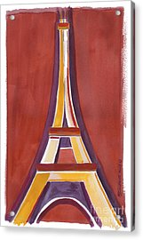 Rust Yellow Eiffel Tower Acrylic Print