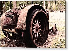 Rusted Big Wheels Acrylic Print by Michael Spano