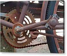 Rusted Chain Acrylic Print by Susan OBrien
