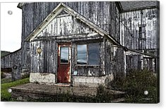 Rusted Farmhouse Door Acrylic Print by Michael Spano