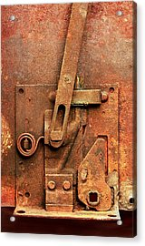Rusted Latch Acrylic Print by Jim Hughes