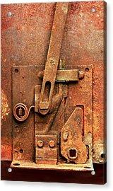 Rusted Latch Acrylic Print by Jim Hughes