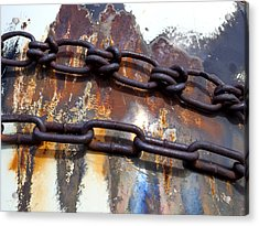 Rusted Links Acrylic Print by Fran Riley