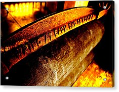 Acrylic Print featuring the photograph Rusted Mangle by David Rich