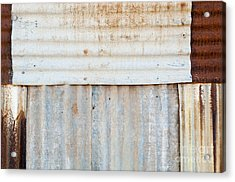 Rusted Metal Background Acrylic Print by Tim Hester