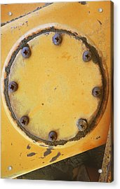 Rusted Metal Orange Acrylic Print by Ann Powell