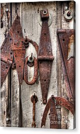 Rusted Past Acrylic Print by Benanne Stiens