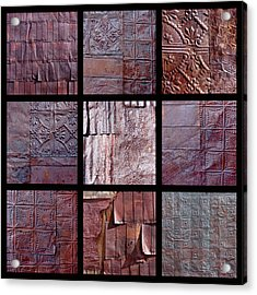 Rusted Tin Acrylic Print by Art Block Collections