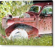 Rusted Truck 4 Acrylic Print by Dietrich ralph  Katz