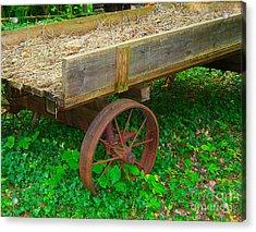 Rusted Wagon Wheel Acrylic Print