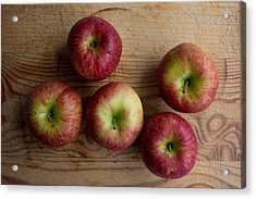Acrylic Print featuring the photograph Rustic Apples by Jocelyn Friis