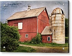 Rustic Barn Acrylic Print by Bill Wakeley