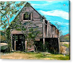 Acrylic Print featuring the painting Rustic Barn - Mooresburg - Tennessee by Jan Dappen
