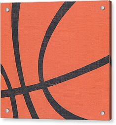 Rustic Basketball Acrylic Print