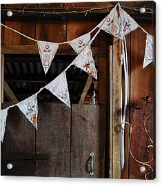 Acrylic Print featuring the photograph Rustic Bunting by Jocelyn Friis