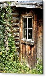 Rustic Cabin Window Acrylic Print