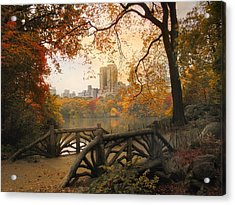 Acrylic Print featuring the photograph Rustic City View by Jessica Jenney
